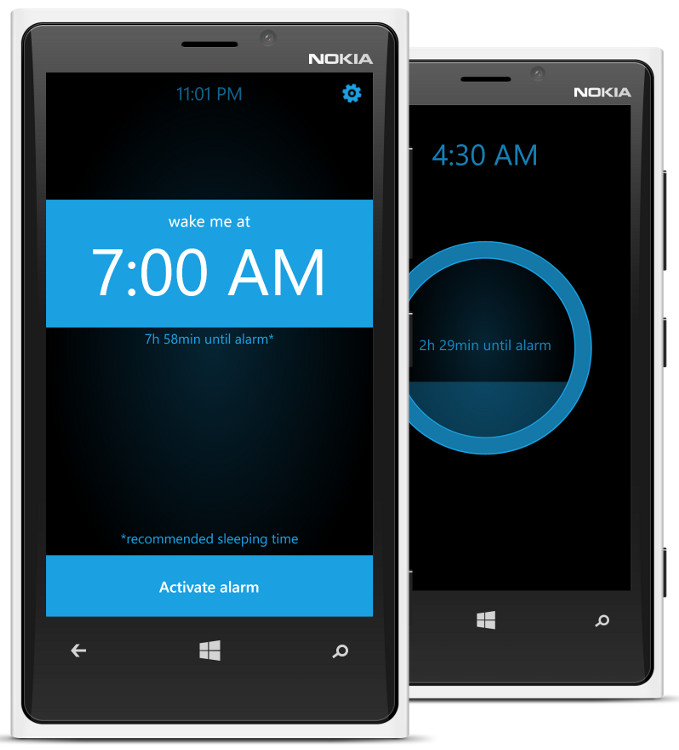 Gentle Alarm Clock – Windows Phone Sovellus